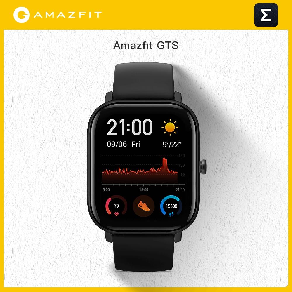 Смарт-часы Amazfit GTS в наличии глобальная версия, водонепроницаемые умные часы 5ATM, аккумулятор на 14 дней, управление музыкой для Android Io