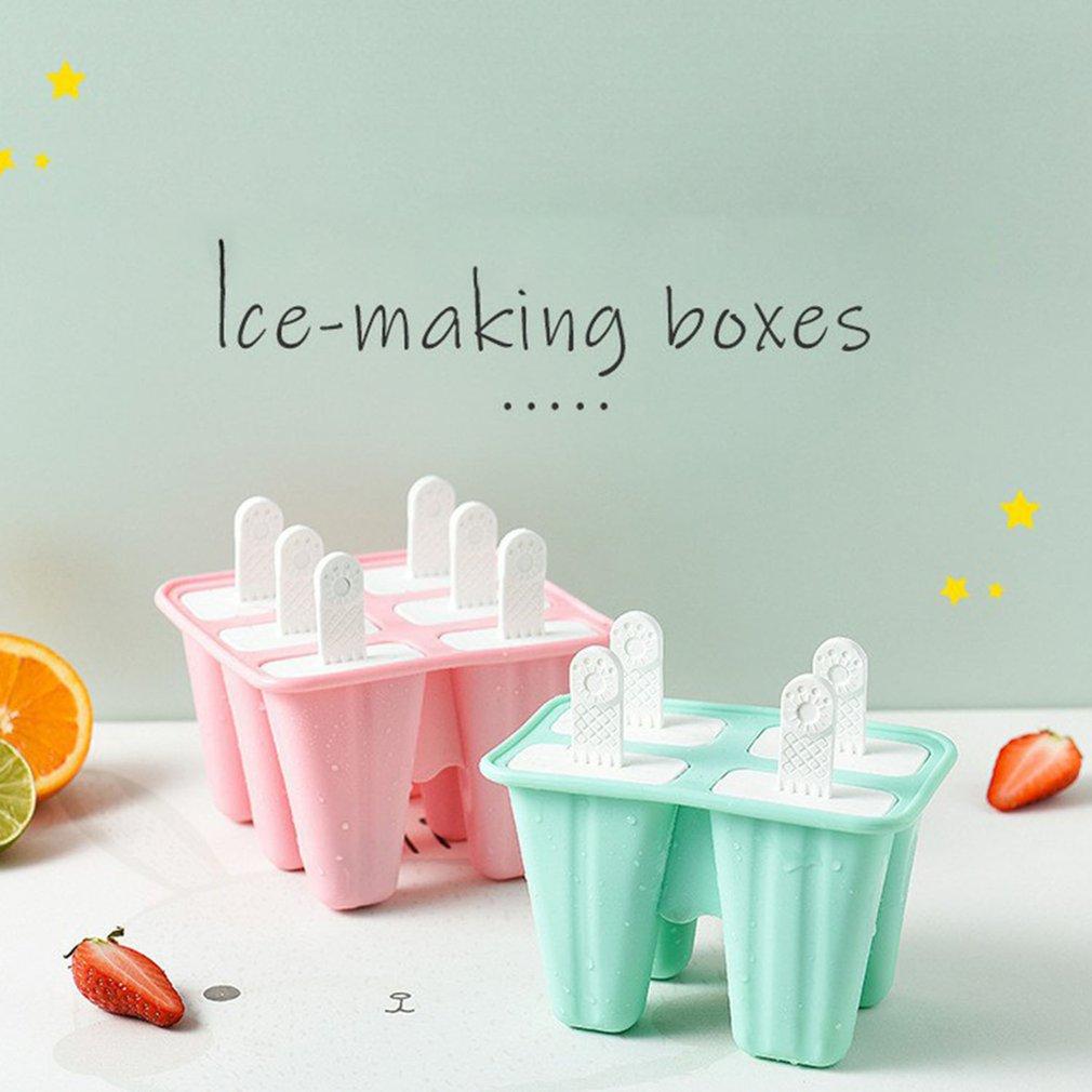 10*12*9cm Popsicle Silicone Mold Six Grid Ice Cream Mold Yogurt Ice Cream Mold DIY Supplies Baby Grade Silica Gel Mold