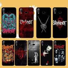PENGHUWAN Slipknot Rock Copertura Della Cassa Del Telefono di TPU nero Scafo Per Samsung A10 A20 A30 A40 A50 A70 A71 A51 A6 a8 2018