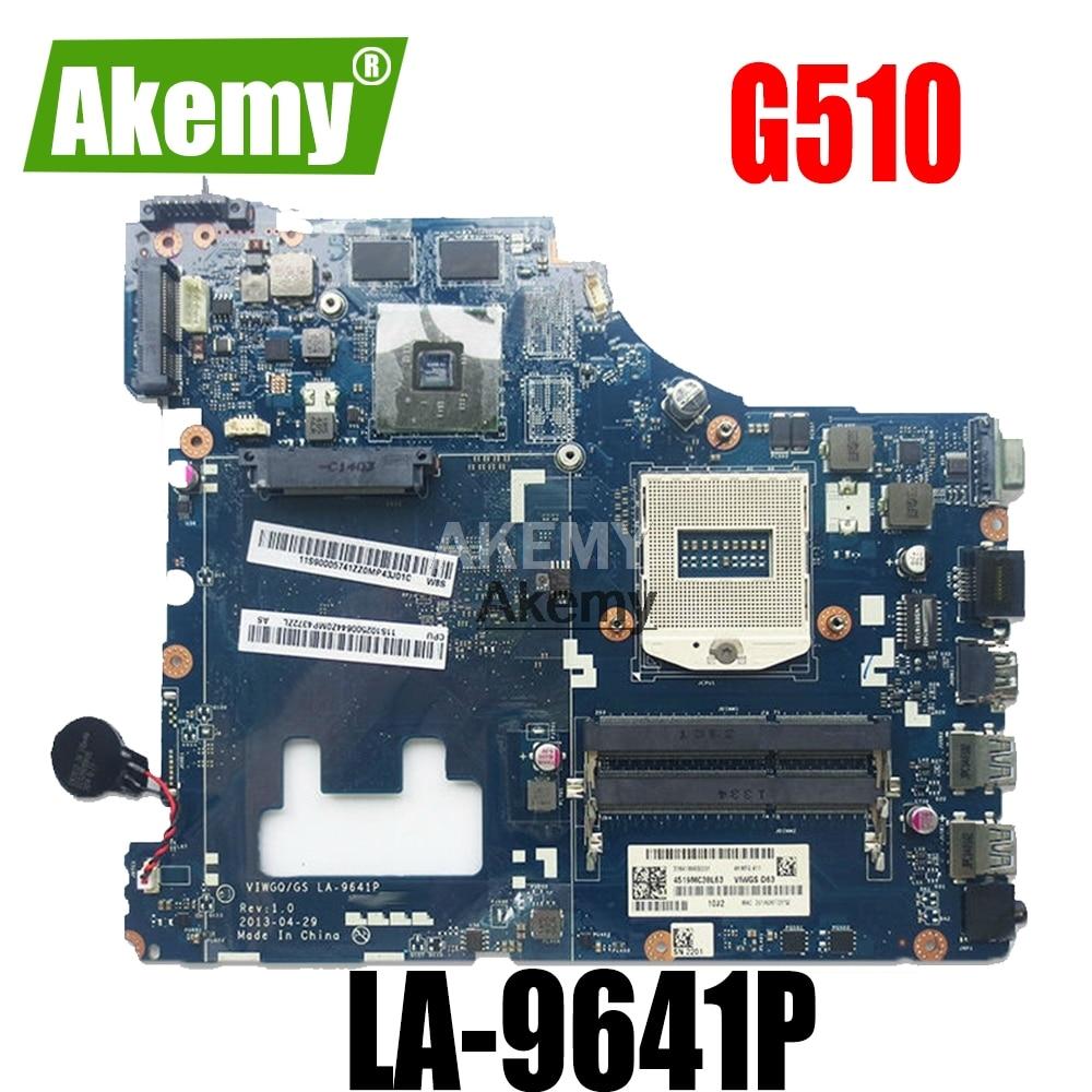 LA-9641P G510 para Lenovo G510 placa base para Lenovo VIWGQGS LA-9641P placa base para ordenador portátil prueba original 100% trabajo