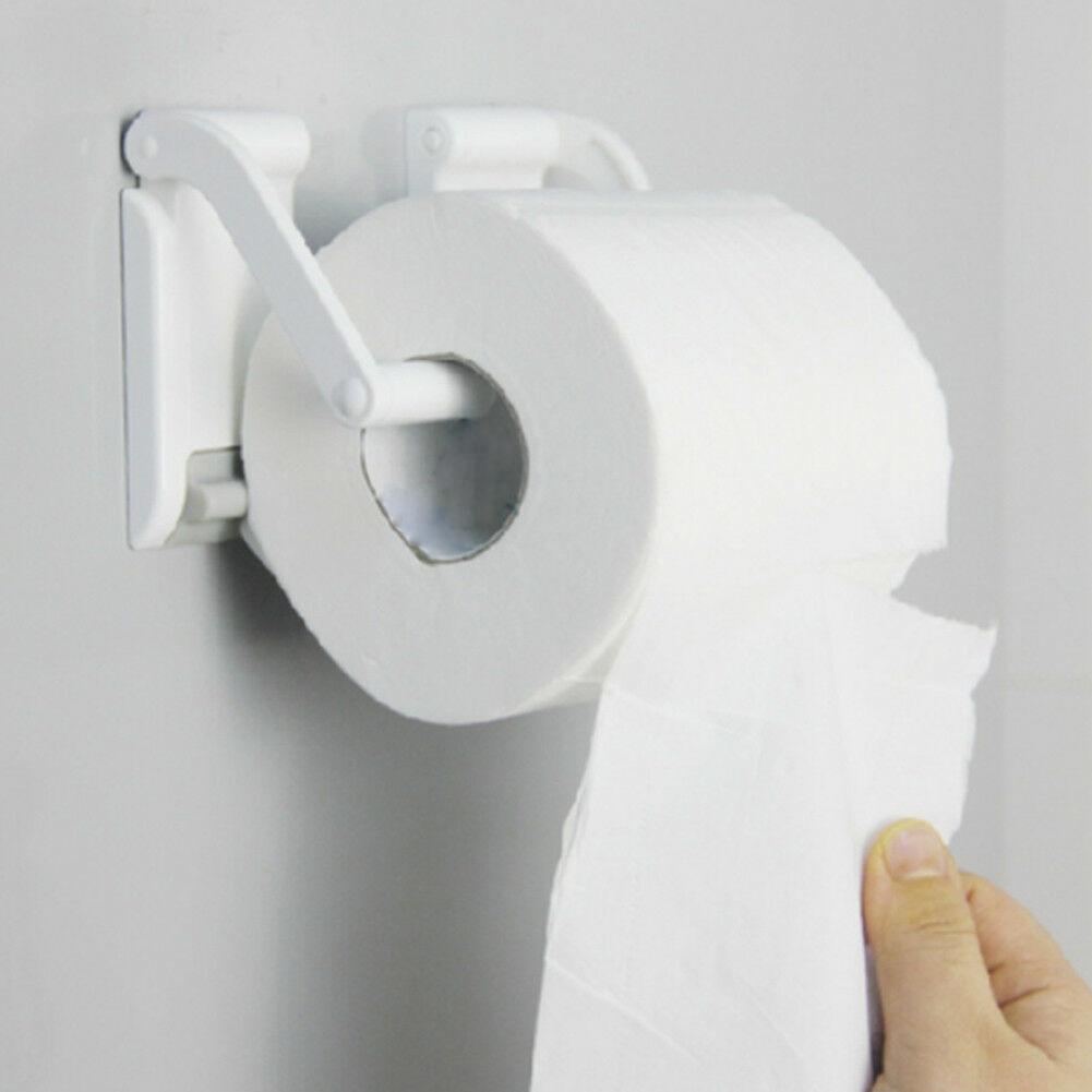 Soporte de papel de montaje en pared organizador magnético ajustable dispensador de fácil instalación estante de papel higiénico para el hogar