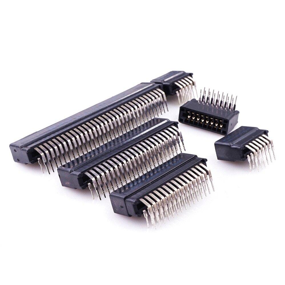 5 шт. разъем для кромки 2,54 мм Шаг 8 10 12 14 16 20 22 24 26 30 36 44 50 60 62 64 72 Pin PCB Gold Finger Socket правый угол