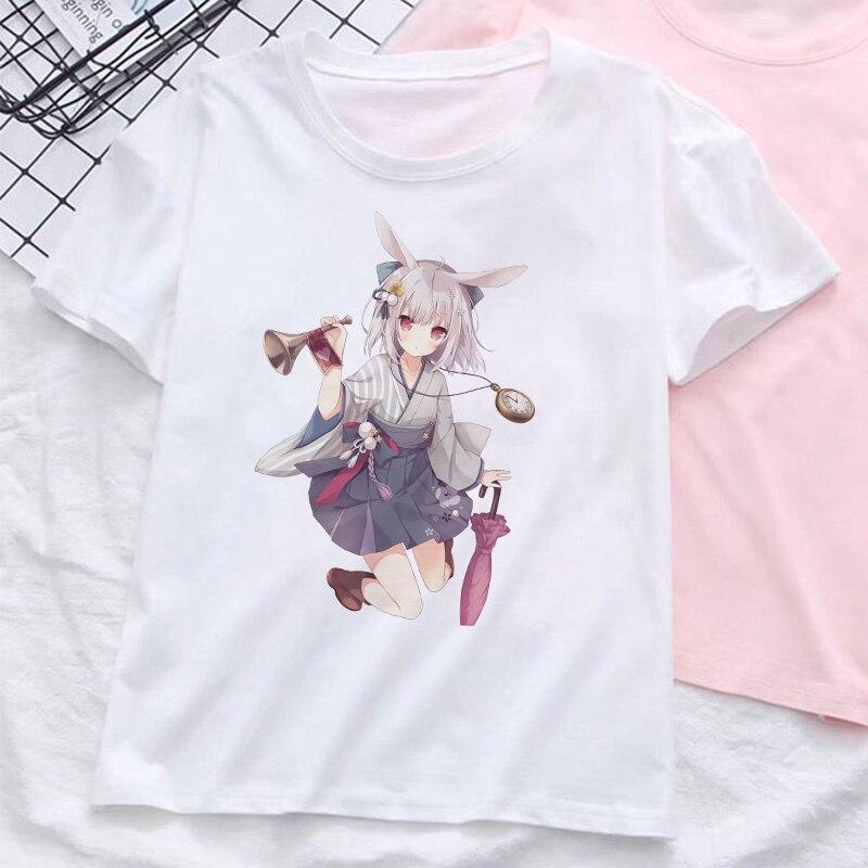 Camiseta con estampado de personajes de dibujos animados de anime japonés estilo Vogue moda 2019 Streetwear Harajuku Skateboard Street camiseta para mujer