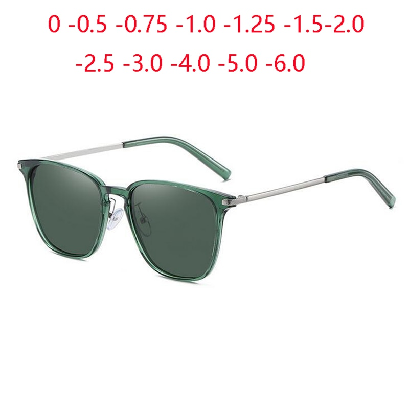 Drak Grün Objektiv Minus Angepasst Sonnenbrillen Frauen Polarisierte Anti-Uv Männer Kurze-anblick Brillen Rezept 0-0,5-0,75 zu-6,0