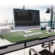 Yüksek kaliteli büyük Mouse Pad 115x50cm PU deri oyun Mousepad su geçirmez zehirli Mouse Pad masa pedi