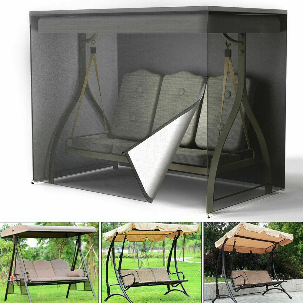 مقاوم للماء حديقة غطاء مقعد في الهواء الطلق 3 مقاعد ساحة أرجوحة حديقة غطاء أرجوحة غطاء للفناء UV الشمس المطر أريكة حماية أكياس