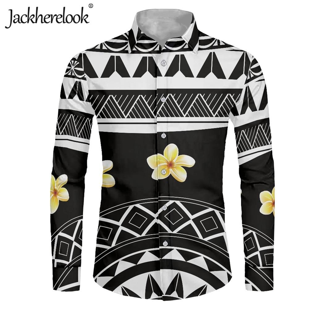 Jackherelook-Camisa de manga larga Para Hombre, camisa masculina con cuello vuelto DE...