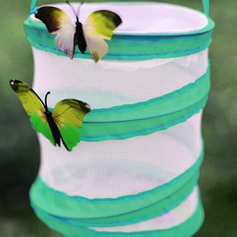 Jaula doblada de oración de 14*15cm, caja emergente pequeña, jaula de malla para insectos Mantis, juguetes de biología nuevos