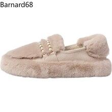 Chaussures de neige en coton pour femmes, bottes perlées pour garder au chaud, en cachemire, imperméables, antidérapantes, décontractées, en peluche, nouvelle mode hiver 2021