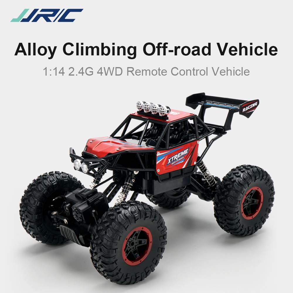 JJRC Q1112 1/14 RC Car 4WD Off-Road Crawler Climb Alloy LED Light Remote Control Vehicle Machine Ele