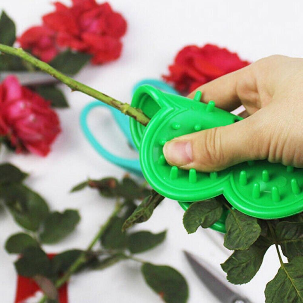 2Pcs DIY herramienta de corte florista flor Rosa espina madre de Stripper jardín deja de tallo Rosa espina removedor de herramienta