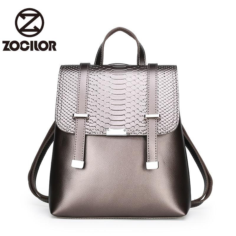 Women Leather Women Backpacks High Quality Female Vintage Serpentine School Backpack Travel Shoulder Bag School Bags For Girls