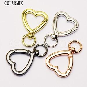 10Pcs Heart Clasp jewelry pendants for women Round Trendy Metal jewelry Pendant  jewelry pendant   for women 51221