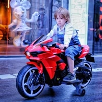 2 9 years old early education electric motorcycle car remote control large car toys dazzle colour lights car for kids to drive