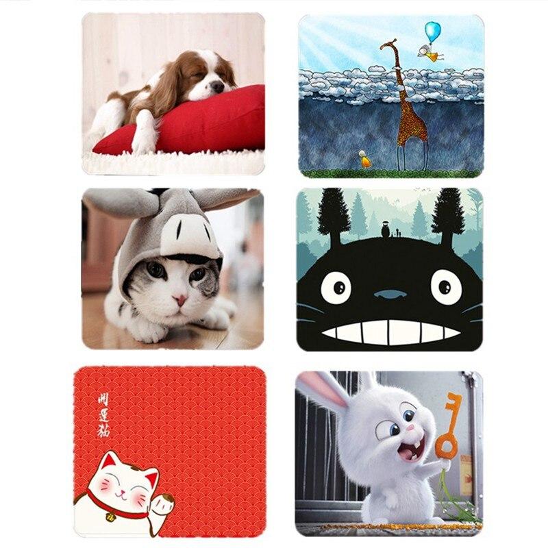 Kleine Computer Mouse Pad Mat Nette Cartoon Tier Hund Katze Ribbit Anime Totoro Muster PC Büro Gamer Mauspad Für Kid mädchen Junge