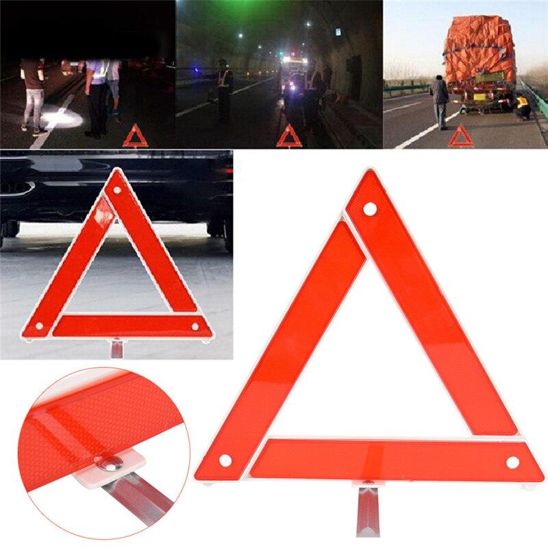 1pc carro de emergência quebra aviso triângulo vermelho reflexivo segurança perigo tripé carro dobrado sinal parada refletor