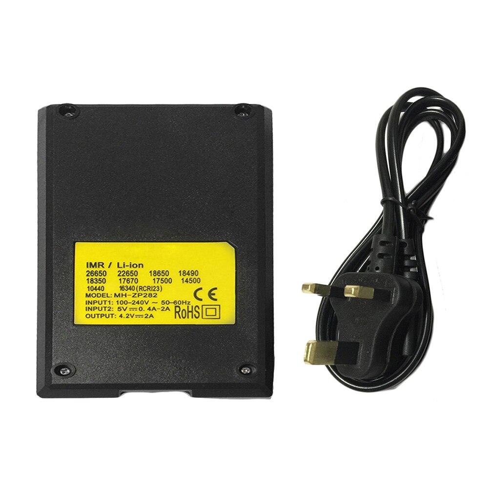 Multifunction Smart 4 Li-ion Battery rechargeable batteries Charger for 26650 22650 18650 18490 18350 17670 US EU UK AU plug