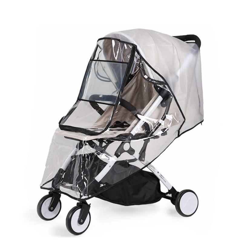 Аксессуары для детской коляски EVA, прозрачный водонепроницаемый дождевик с защитой от ветра и пыли, на молнии, для колясок, дождевик