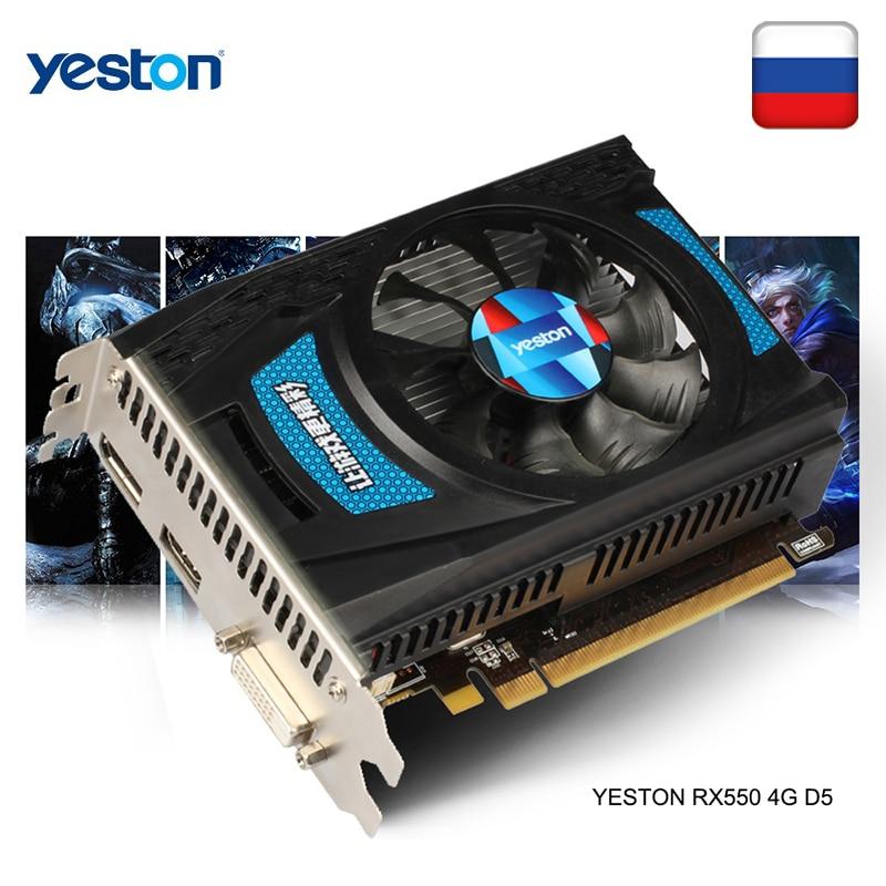 Yeston Radeon RX 550 GPU 4GB GDDR5 128bit Gaming Desktop computer PC Video Graphics Cards support DV