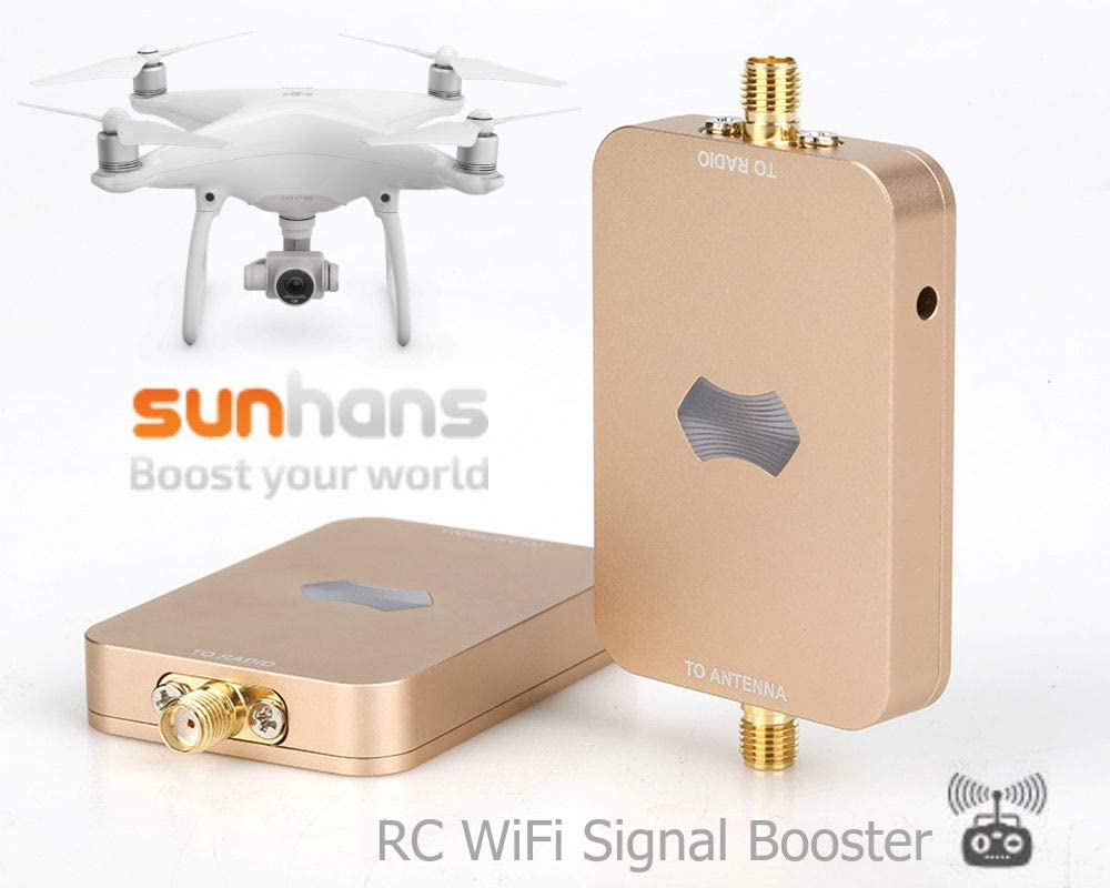 Sunhans eSunRC 5.8GHz 2000mW 33dBm amplificateur de Signal sans fil amplificateur WIFI répéteur extendeur Compatible avec DJI RC Drones yunece