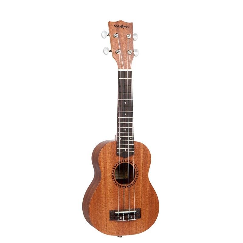Nueva NAOMI estudiante ukelele Soprano equipado con Aquila cuerdas Ukulele de sapeli para estudiante principiante