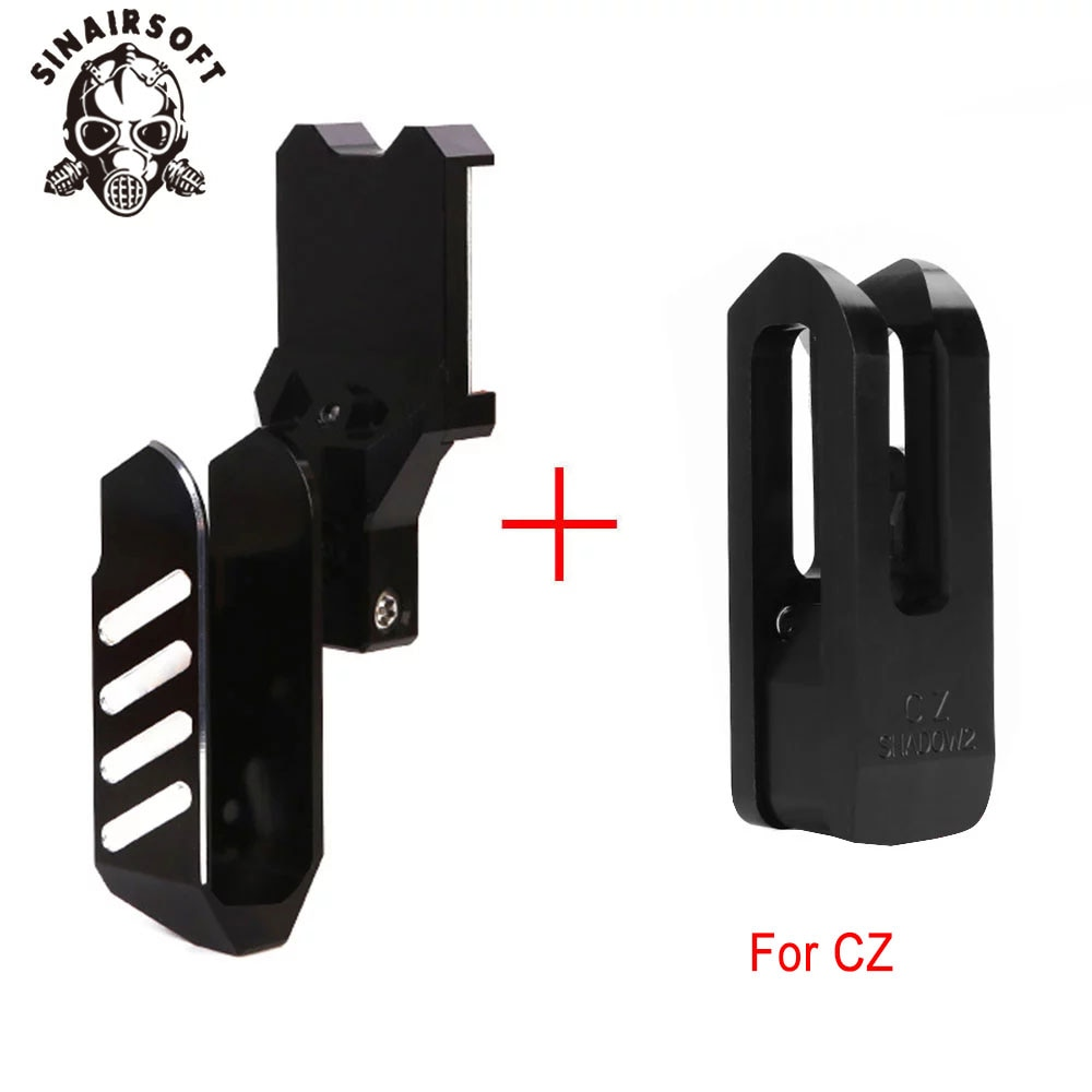 IPSC USPSA Tactical Competition Pistol Holster for CZ shadow2  Right Hand Aluminum Pistol Insert Holster  Hunting Accessories
