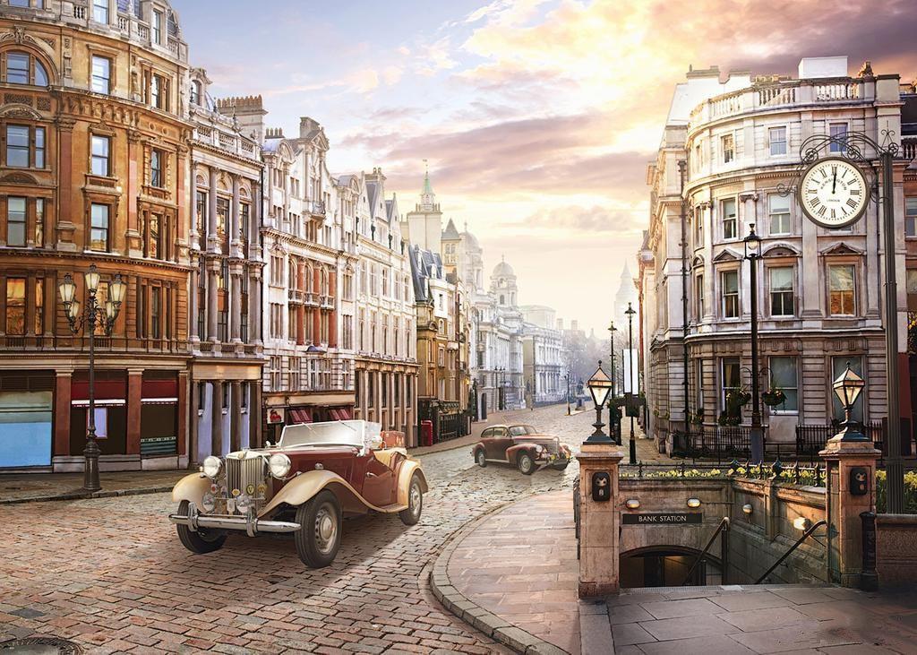 JMINE Div 5D Car London City Street Full Diamond Painting cross stitch kits art High Quality Scenic 3D paint by diamonds