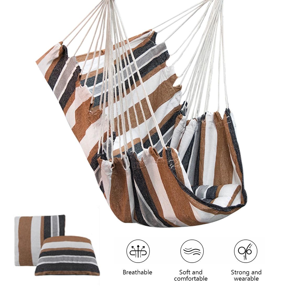 Уличный гамак, качели, утолщенное кресло-качели, подвесное качели, портативное расслабляющее холщовое качели для путешествий, кемпинга, вну...