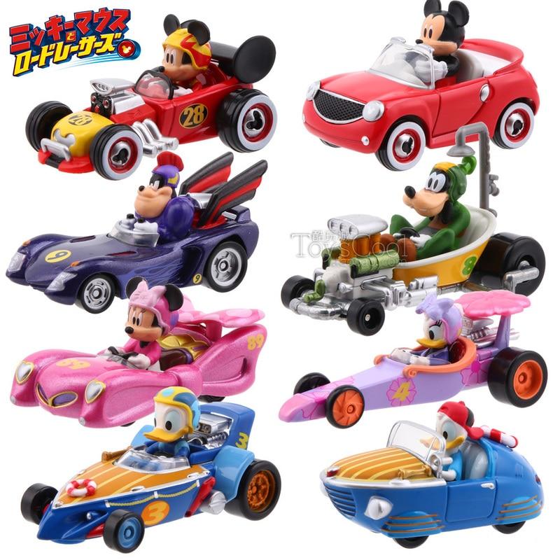 Tomy Cars MRR Fantastic Team Daisy Donald Duck Mickey Goofy Peete Minnie Retro Racing Alloy Car Model Toys Scene Props