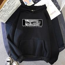 Anime Attack on Titan Hoodie Eren Yeager Print Classic Sweatshirts Funny Cartoon Harajuku Womens Men