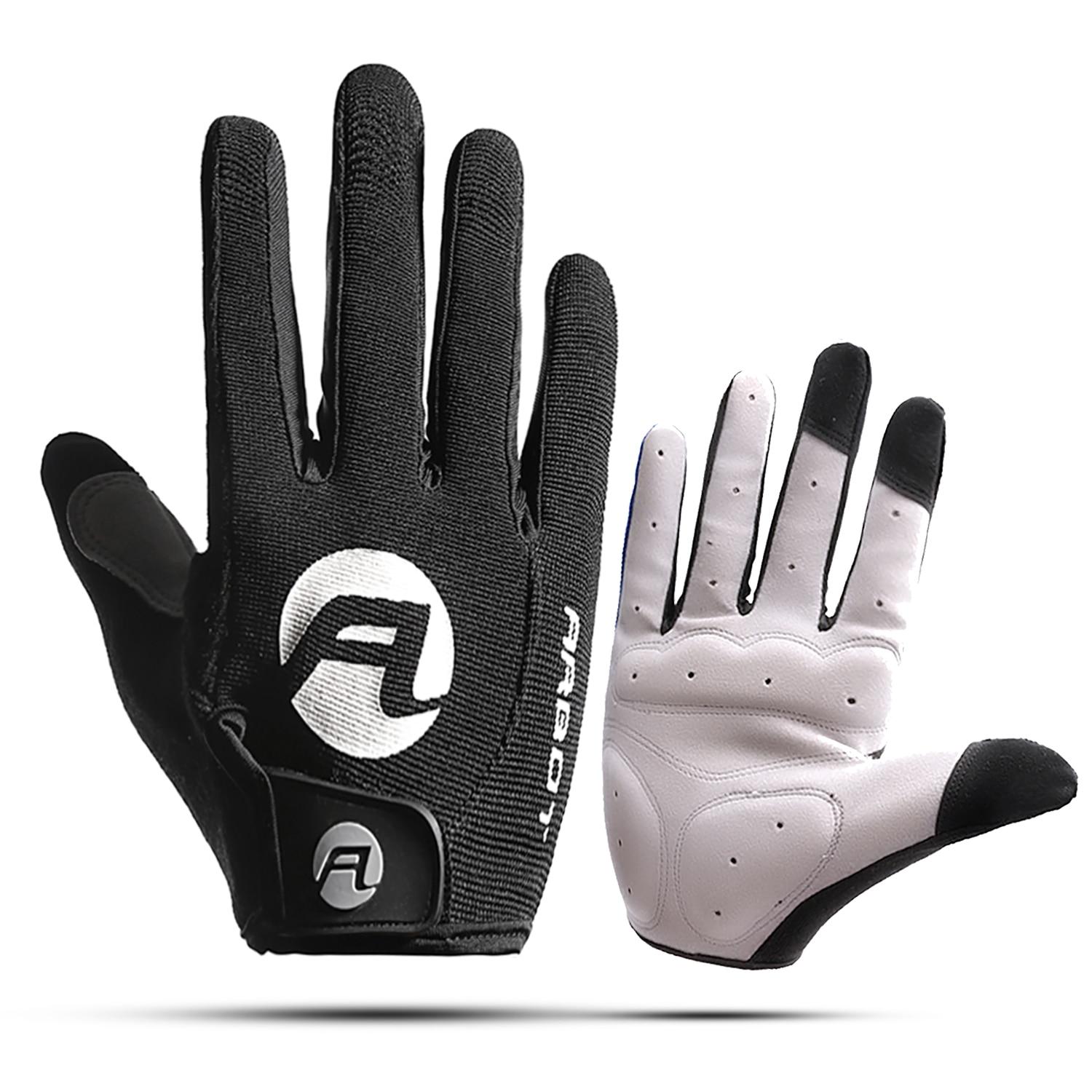 Cycling Anti-slip Full Finger Gloves MTB Bike Gloves Pad Men Breathable Anti-shock Sports Gloves MTB Bike Bicycle Warm Glove Man