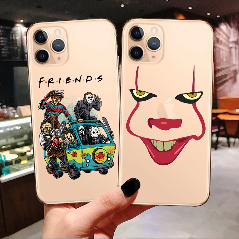 Michael Myers Jason Voorhees Halloween Friend Tv Show Horror Character Pennywise Soft Case For iPhone 11 Pro Max XR xs Max X 7 8