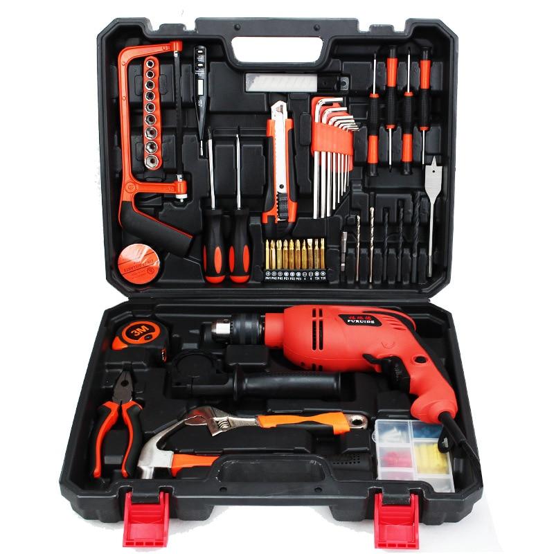 مثقاب كهربائي ، صندوق أدوات نجار ، محمول ، متعدد الوظائف ، مجموعة مفاتيح ، صندوق أدوات ، تغليف DE50GJX