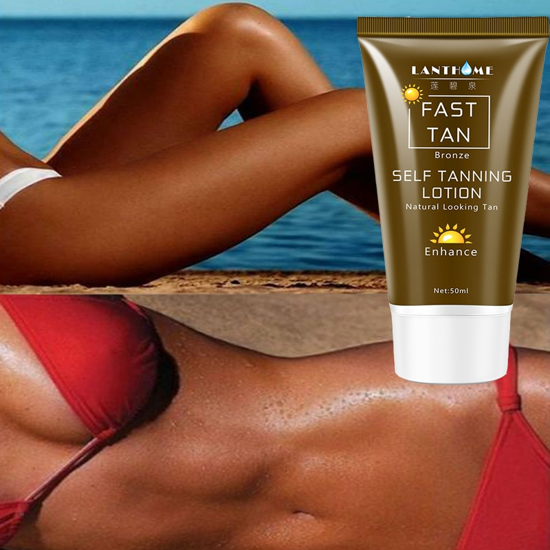 50ml Sunless Self Tanning Lotion Bronze Quickly Coloring  Face Body Natural Tan Cream недорого