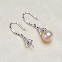925 silver pearl beads stud earrings setting base diy jewelry making findingscomponents