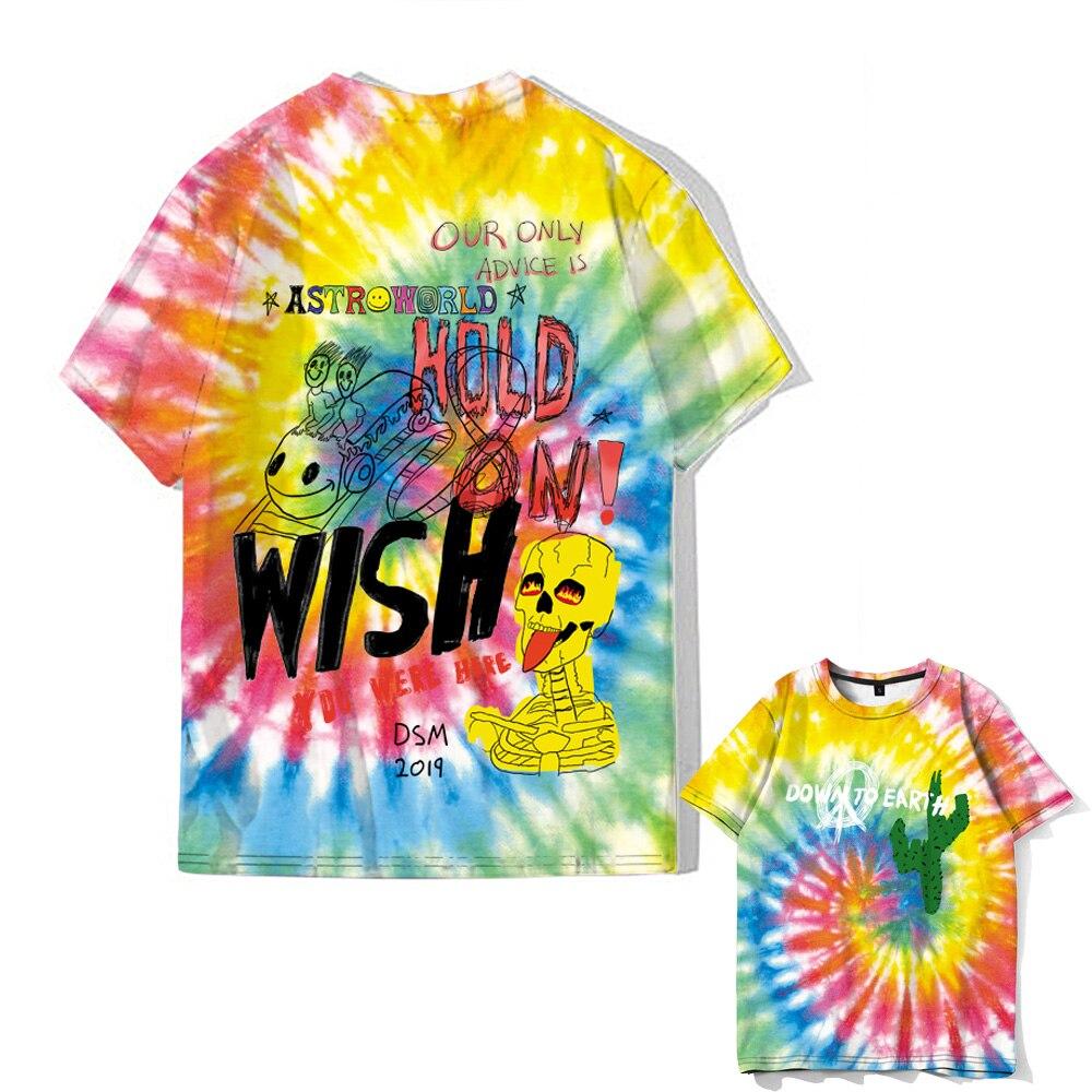 2020 ASTROWORLD Travis Scott Astroworld Festival Running Men's T-Shirt Fashion Hip Hop Harajuku T-Shirt