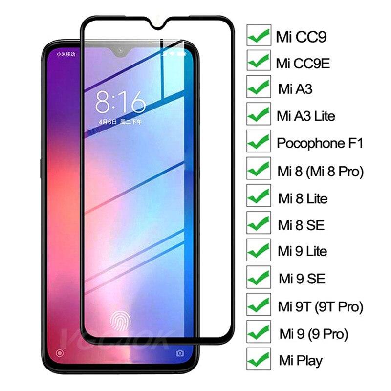 9D Защитное стекло для Xiaomi mi 8 9 A3 Lite mi 8 mi 9 SE CC9 CC9E Защита экрана для mi 9T Pro Play Pocophone F1 стеклянная пленка