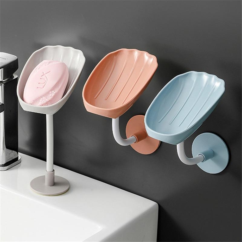صندوق الصابون الصابون تخزين الرف شفط كأس الحائط الإبداعية رف الصرف دون Ponding المنزلية غسل اليد التخزين
