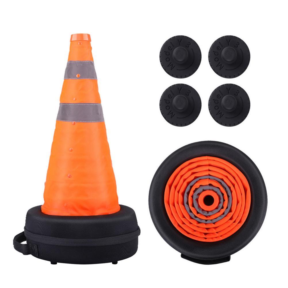 Переносные складные дорожные конусы, парковочные барьеры, светоотражающие дорожные конусы с домкратом, силиконовая подкладка для Tesla Model 3/Y/...