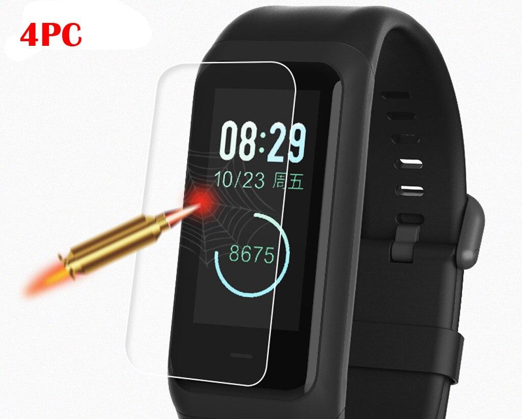 4 x película transparente de hidrogel Protector de pantalla para Xiaomi Huami Amazfit Cor 2 pulsera reloj Correa fitness tracker # G20
