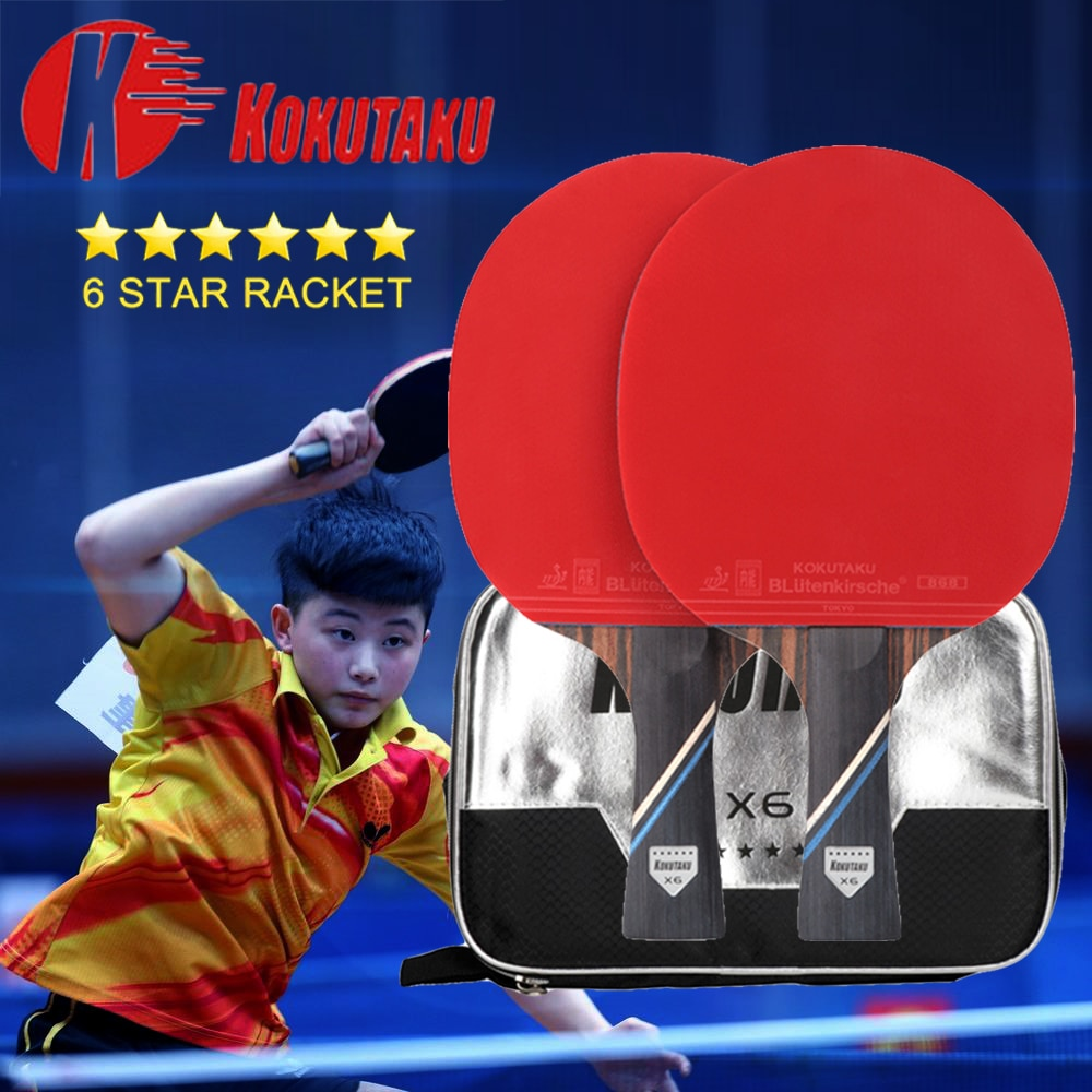 dhs hurricane 3 provincial neo table tennis rubber original pips in dhs ping pong sponge 2 Pcs Kokutaku X4/X5/X6 Ping Pong Racket ITTF Approved Rubber 7 Wood Blade Advanced Table Tennis Rackets Paddles Bats with Case