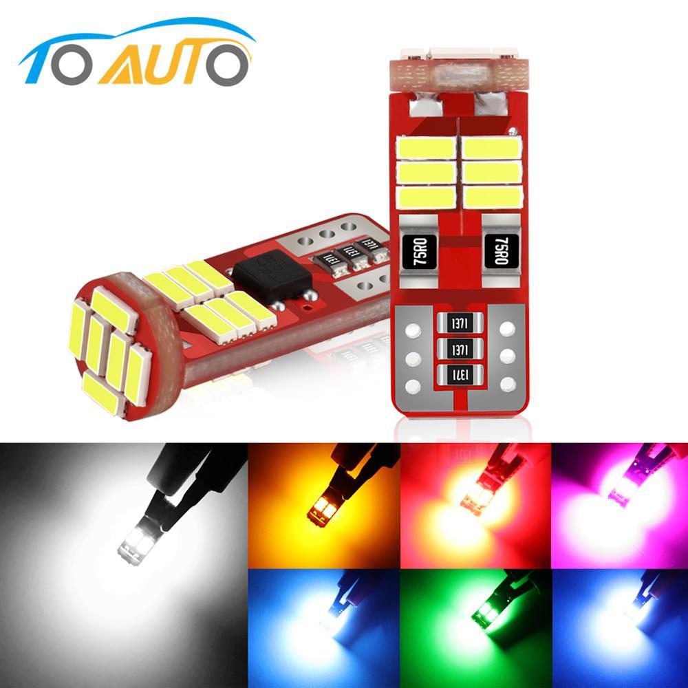 2 uds Canbus 168 194 T10 W5W bombillas LED Interior del coche lectura cúpula puerta luces de mapa 18SMD 4014 fichas de lámpara 12V azul
