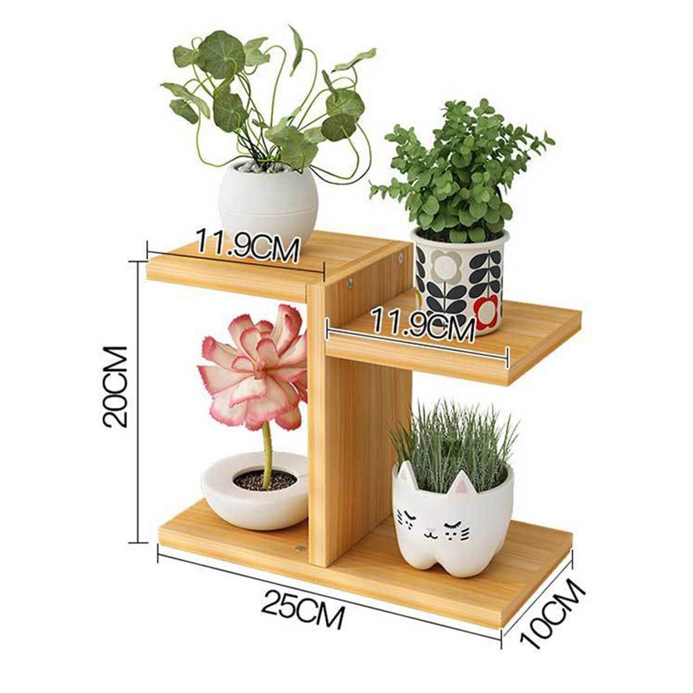 De Madera de soporte de 4 niveles Vertical estante estantería para exhibir flores en maceta de flores para exterior titular para jardín Patio balcón Oficina