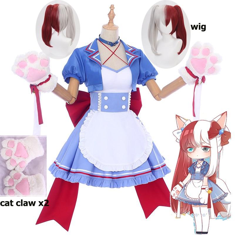 Anime de My Hero Academia, tienda de café, Little Hero Todoroki Shoto, café, criada, disfraz de Cosplay, gato, mujer, chica, vestido para fiesta de Halloween