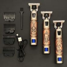 2021 USB T9 Hair Clipper Professional Electric hair trimmer  Barber Shaver Trimmer Beard 0mm Men Hai