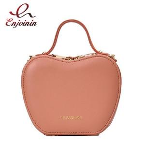 Casual Fashion Apple Shape Girls Leather Chain Shoulder Bag Purses and Handbags Crossbody Bag 2020 Women Trend Bags