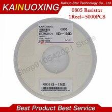 Resistencia de chip 5000 SMD 1/4W 0R ~ 10M 0 10R 100R 220R 330R 470R 1K 0805 K 10K 47K 4,7 K 0 10 100 100 330 ohm, 470 Uds.