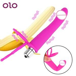 Double Penetration Vibrator Sex Toys Penis Strapon Dildo Vibrator, Strap On Penis Anal Plug for Man Adult Sex Toys for Beginner