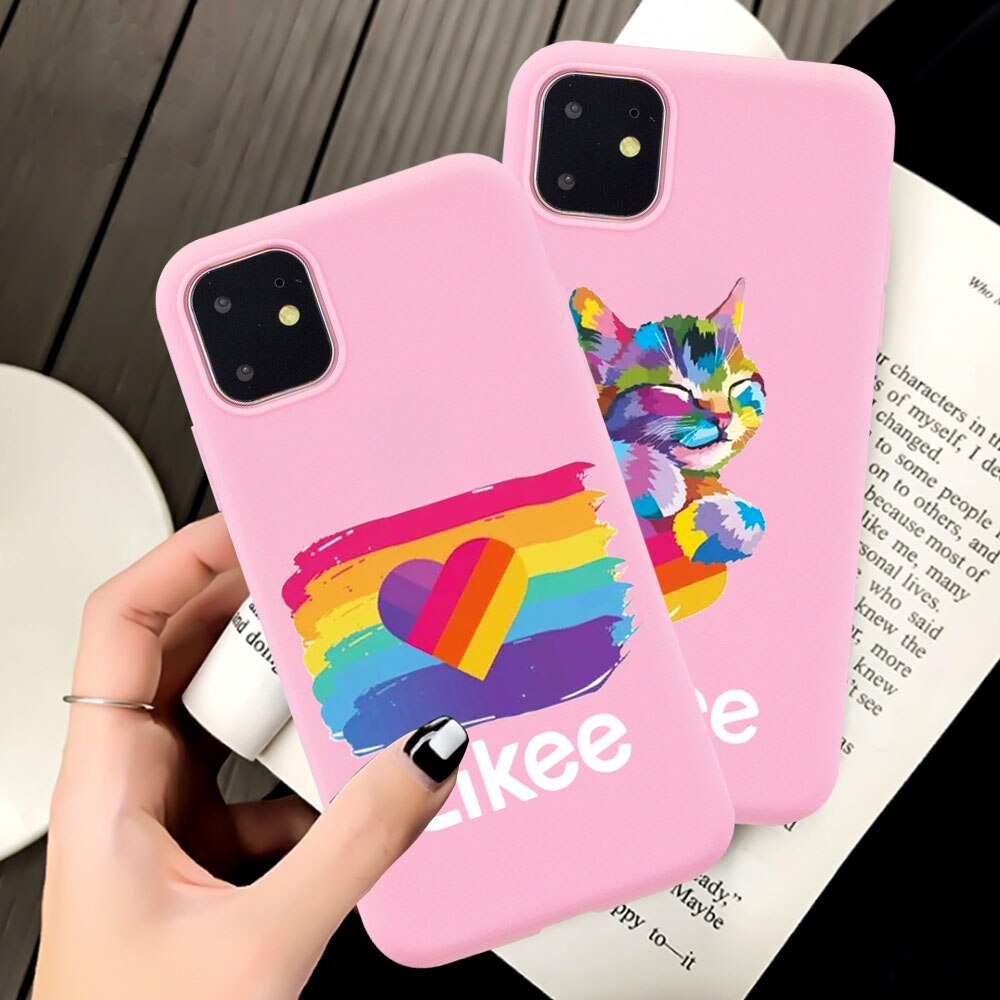 Caja del teléfono para iPhone XR 10 11 Pro max 8 7 6 6S Plus X XS X Max cubierta le gusta el amor es amor del arco iris LGBT corazón Coque Fundas Capa