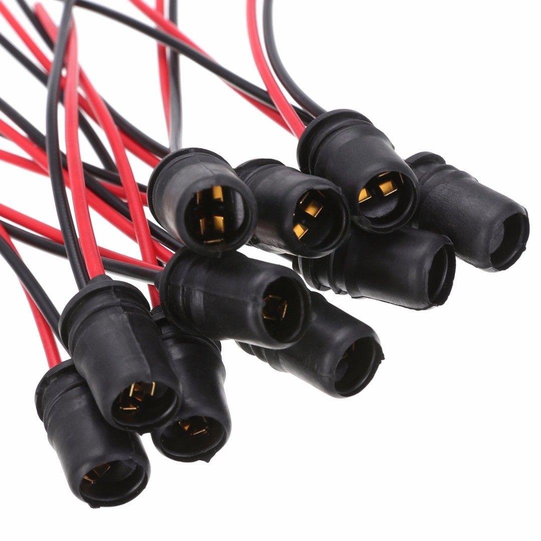 Новинка 10 шт. T10 W5W Автомобильные клиновые лампочки гнездо резиновые светильник почки патрон лампы разъем для автомобиля грузовика лодки